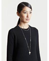 Givenchy Metallic Womens Brass Shark Tooth Necklace