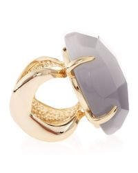 Kendra Scott Metallic Rana Slate Cats Eye Ring Size 7