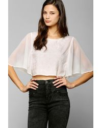 Urban Outfitters | Natural Kimchi Blue Giselle Capelet Top | Lyst