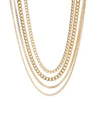 ASOS | Metallic Necklace Pack for Men | Lyst