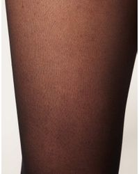 Wolford Black Luxe Super Transparent Tights