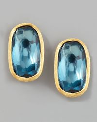 Marco Bicego | Murano 18k London Blue Topaz Stud Earrings | Lyst