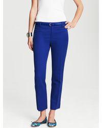 Banana Republic Camdenfit Cobalt Skinny Ankle Pant In Blue