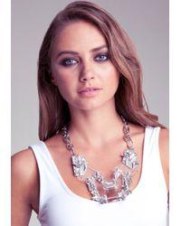 Bebe - Metallic Lucite Statement Necklace - Lyst