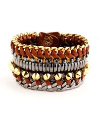 Henri Bendel - Brown Deluxe Girlfriend Beaded Wrap Bracelet - Lyst