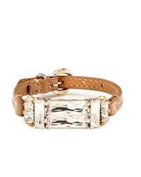Henri Bendel - Brown Deco Strap Bracelet - Lyst
