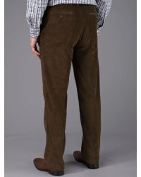 Skopes Brown Flat Front Cord Trouser for men