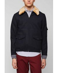 Urban Outfitters | Blue Native Youth Sherpa Collar Fighter Jacket for Men | Lyst