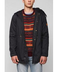 Urban Outfitters - Blue Native Youth Sherpa Lined Parka for Men - Lyst