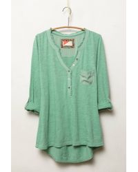 Anthropologie | Green Essential Henley | Lyst