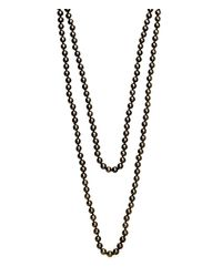Henri Bendel - Gray Jetsetter Padlock Necklace - Lyst