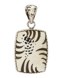 John Hardy | Metallic Palu Macan Silver Rectangle Pendant | Lyst
