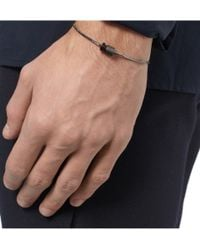 Lanvin - Metallic Bolt Metal Bracelet for Men - Lyst