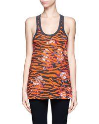 McQ   Multicolor Floral Zebra Print Cotton Tank Top   Lyst