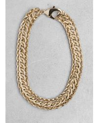 & Other Stories - Metallic Chain-Link Necklace - Lyst