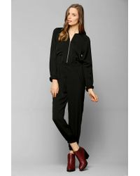 Urban Outfitters | Black Silence Noise Silky Flight Jumpsuit | Lyst