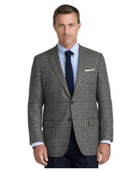 Brooks Brothers Blue Fitzgerald Fit Large Plaid Sport Coat for men