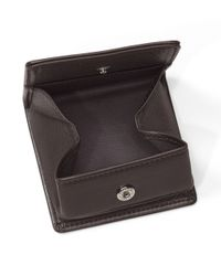 Brooks Brothers - Brown Leather Coin Case for Men - Lyst