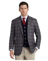Brooks Brothers Gray Madison Fit Plaid Sport Coat for men
