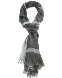 Dior Homme - Black Fringed Scarf for Men - Lyst
