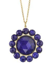 Irene Neuwirth Blue Rose Cut Stone Necklace