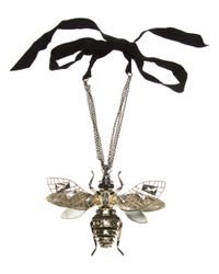 Lanvin | Metallic Embellished Insect Necklace | Lyst
