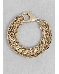 & Other Stories | Metallic Chain-Link Bracelet | Lyst