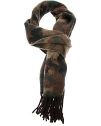 Ralph Lauren Blue Label - Green Camouflage Scarf for Men - Lyst