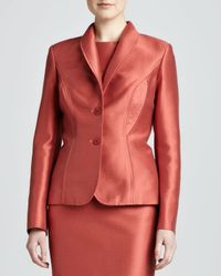 Carolina Herrera | Brown Mikado Jacket | Lyst