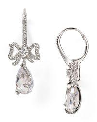 Nadri | Metallic Lavish Bow Earrings | Lyst