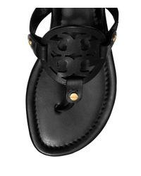 Tory Burch Black Miller Sandal, Leather