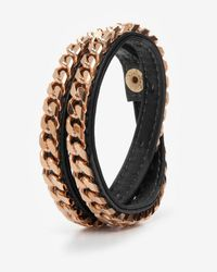 Vita Fede | Metallic Monaco Double Wrap Leatherchain Bracelet Black | Lyst