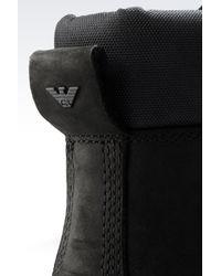 Armani Jeans Black Combat Boots for men