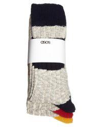 ASOS - Natural 3 Pack Boot Socks for Men - Lyst