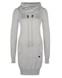 Bench   Gray Longsleeve Sweater Dress   Lyst