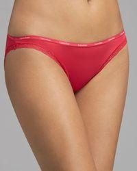 Calvin Klein - Red Calvin Klein Bikini Bottoms Up - Lyst