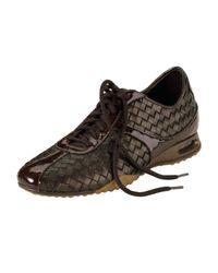 Cole Haan Air Bria Woven Leather Oxford Dark Brown