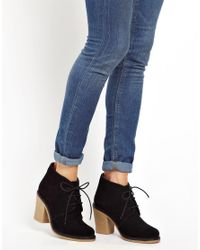 Louise Amstrup - Faith Black Suede Sand Hurst Lace Up Ankle Boots - Lyst