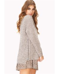 Forever 21 Gray Laid Back Zipper Sweater
