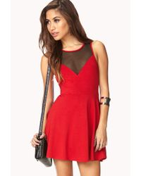 Forever 21 Red Favorite Fit Flare Dress