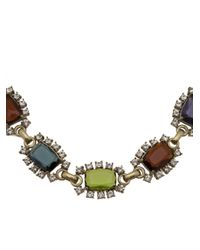 Gerard Yosca - Metallic Square Jewels Necklace - Lyst