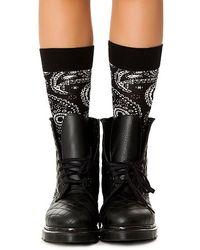 Happy Socks Black The Paisley Sock