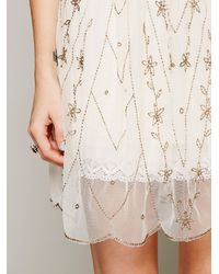 Free People White Starry Night Slip