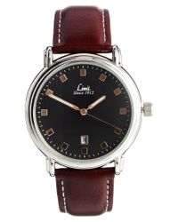 Brave Soul Brown Limit Leather Look Strap Watch for men