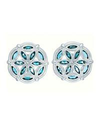 Slane | Metallic Marquise Topaz Fenestra Earrings | Lyst