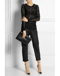 Theory - Black Lace Top - Lyst