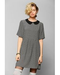 7fb7093412aa Urban Outfitters. Women s Contrast Collar Babydoll Dress