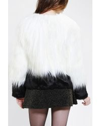 Urban Outfitters - White Staring At Stars Deville Faux Fur Jacket - Lyst