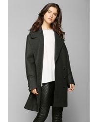 Urban Outfitters | Black Bb Dakota Boxy Double breasted Peacoat | Lyst