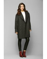Urban Outfitters - Black Bb Dakota Boxy Double breasted Peacoat - Lyst